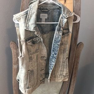 Forever 21 Frayed Jean Jacket